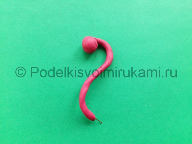Лепка фламинго из пластилина - фото 4.
