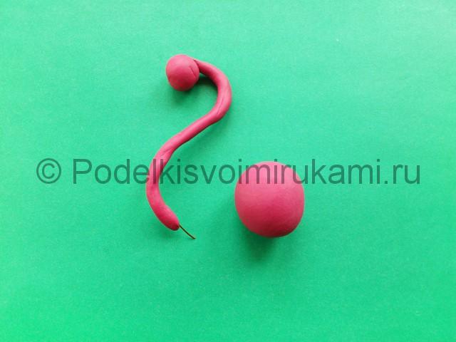 Лепка фламинго из пластилина - фото 5.