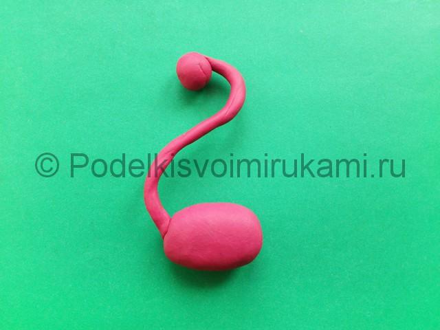 Лепка фламинго из пластилина - фото 6.