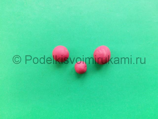 Лепка фламинго из пластилина - фото 7.