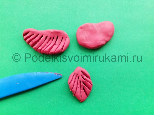 Лепка фламинго из пластилина - фото 9.