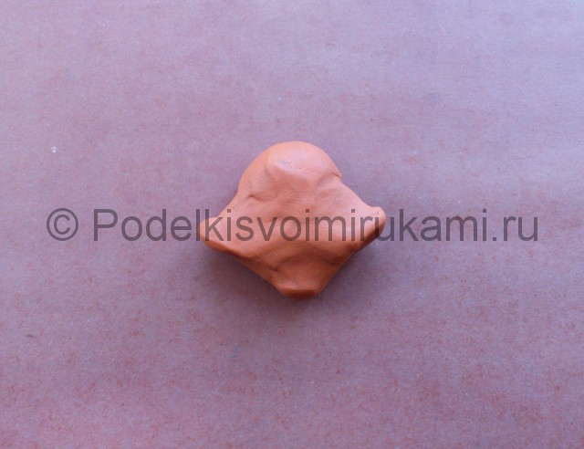 Лепка кота Леопольда из пластилина - фото 11.