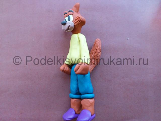 Лепка кота Леопольда из пластилина - фото 15.