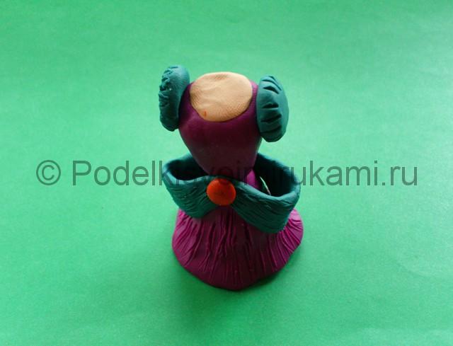 Лепка кукольного платья из пластилина - фото 10.