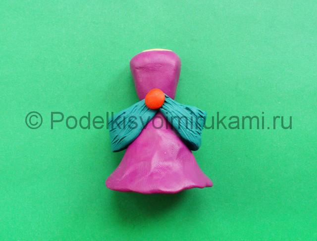 Лепка кукольного платья из пластилина - фото 8.