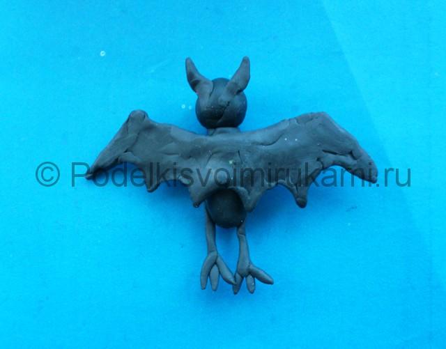 Лепка летучей мыши из пластилина - фото 10.