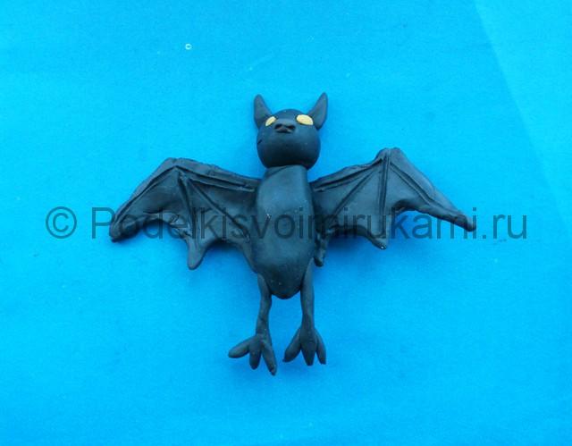 Лепка летучей мыши из пластилина - фото 9.