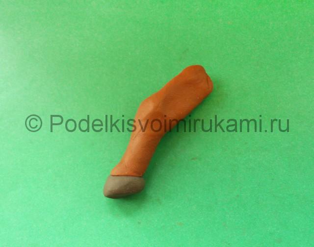 Лепка лося из пластилина - фото 12.