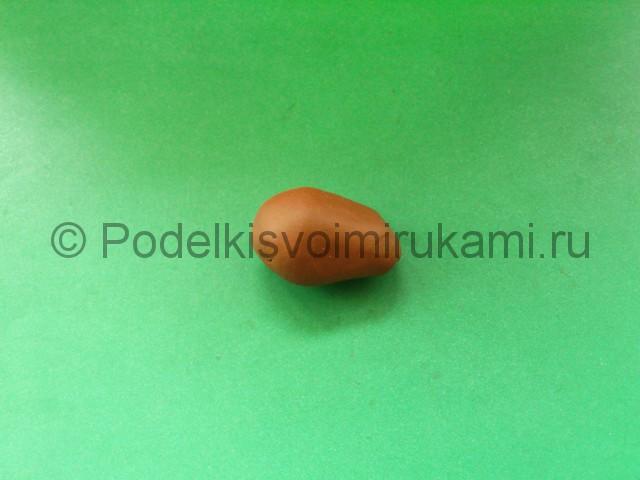 Лепка лося из пластилина - фото 3.