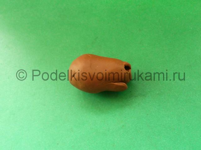 Лепка лося из пластилина - фото 4.