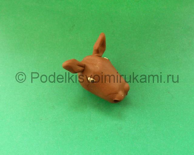 Лепка лося из пластилина - фото 5.