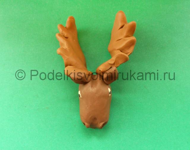 Лепка лося из пластилина - фото 7.