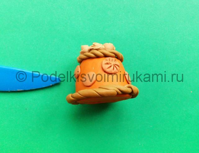 Лепка каравая из пластилина - фото 9.