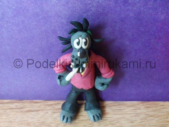 Лепка волка «Ну, погоди!» из пластилина - фото 21.