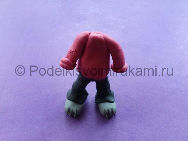 Лепка волка «Ну, погоди!» из пластилина - фото 9.