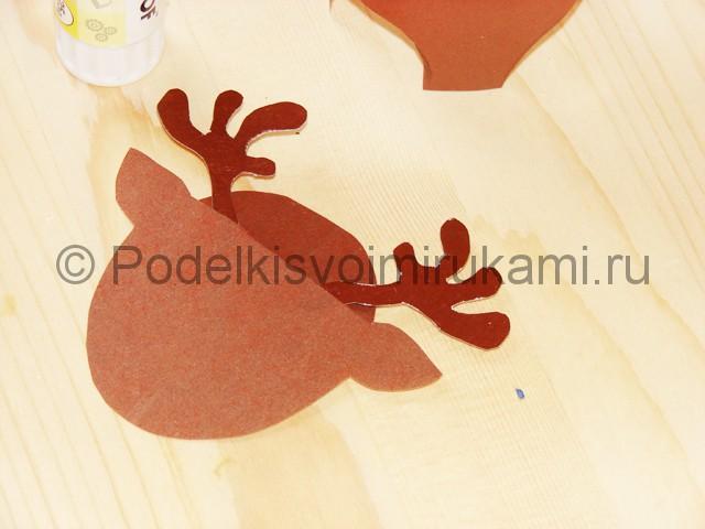 Поделка оленя из бумаги - фото 18.