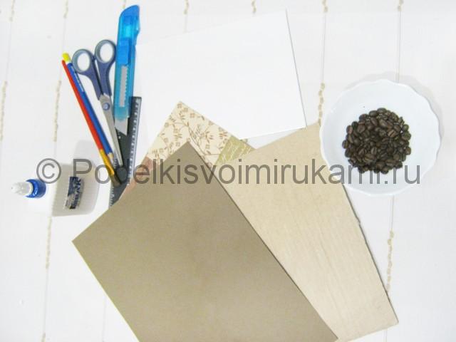 Изготовление панно из кофейных зёрен - фото 1.