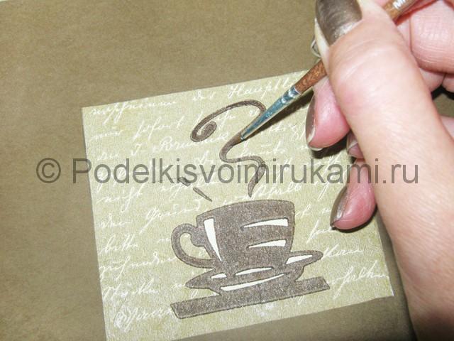 Изготовление панно из кофейных зёрен - фото 10.