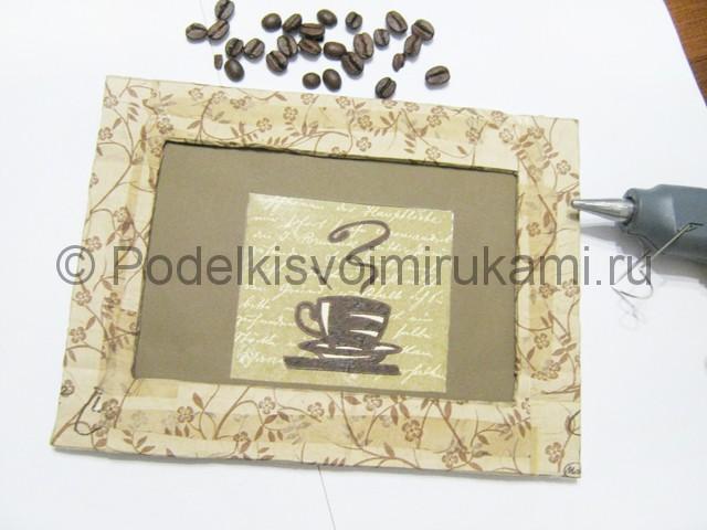Изготовление панно из кофейных зёрен - фото 11.