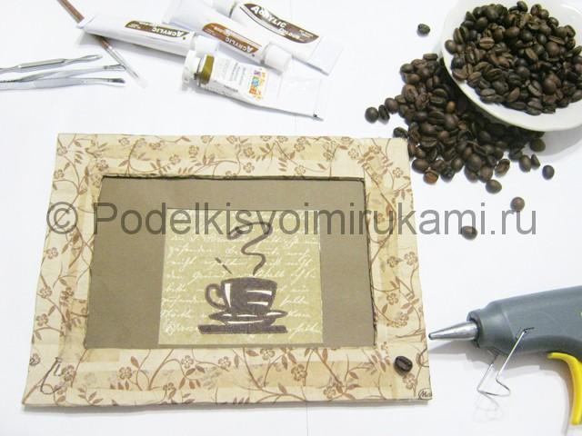 Изготовление панно из кофейных зёрен - фото 12.