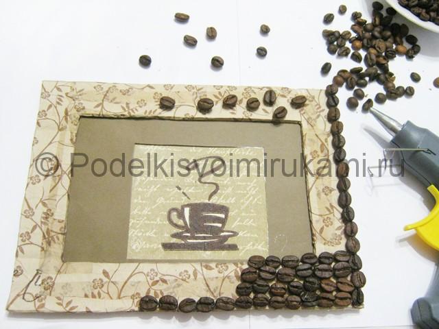 Изготовление панно из кофейных зёрен - фото 13.