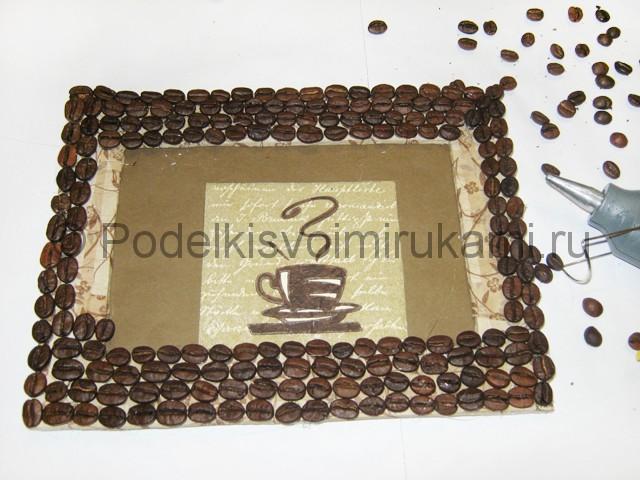 Изготовление панно из кофейных зёрен - фото 14.