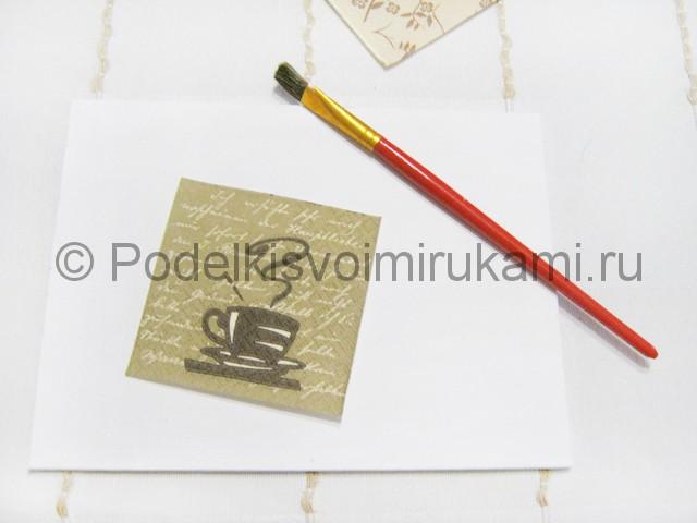 Изготовление панно из кофейных зёрен - фото 2.