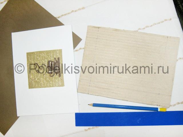 Изготовление панно из кофейных зёрен - фото 4.