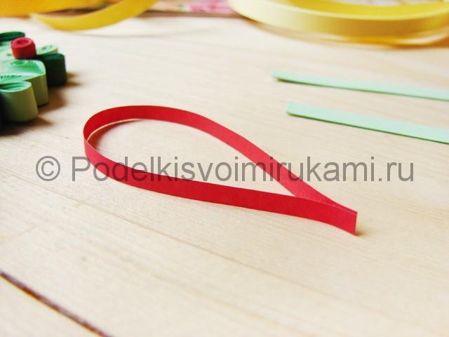 Изготовление рождественского венка из бумаги - фото 27.