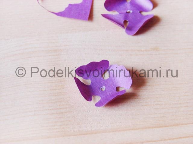 Изготовление фиалки из бумаги - фото 10.