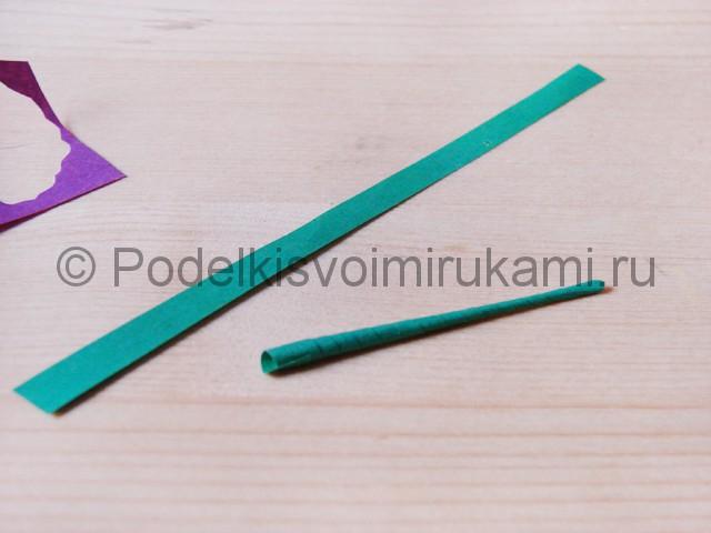 Изготовление фиалки из бумаги - фото 12.