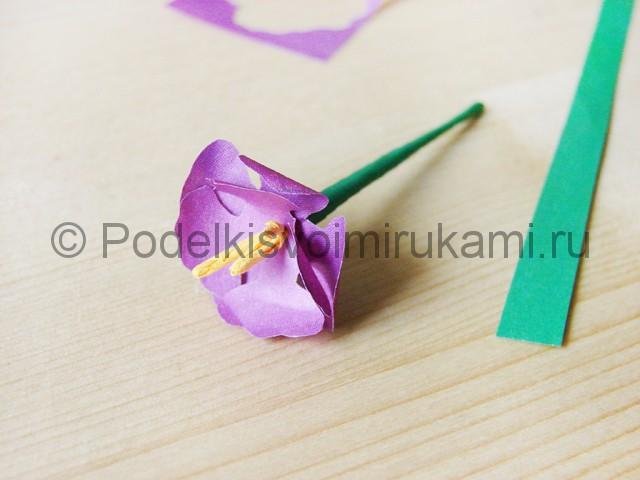 Изготовление фиалки из бумаги - фото 14.