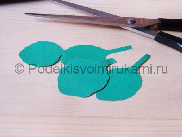 Изготовление фиалки из бумаги - фото 17.