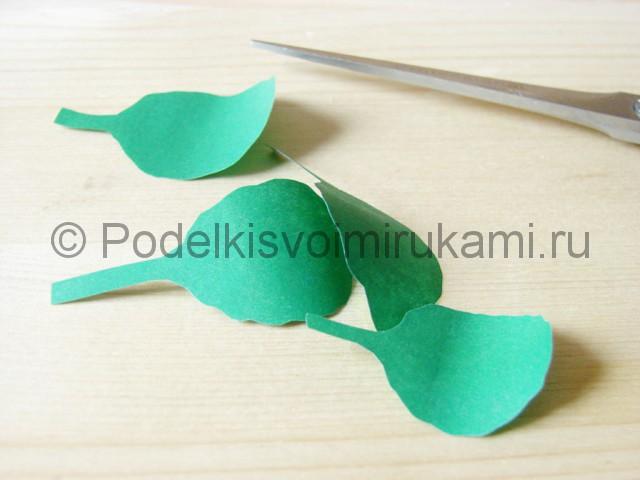 Изготовление фиалки из бумаги - фото 18.