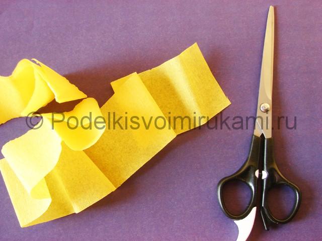 Изготовление фиалки из бумаги - фото 2.