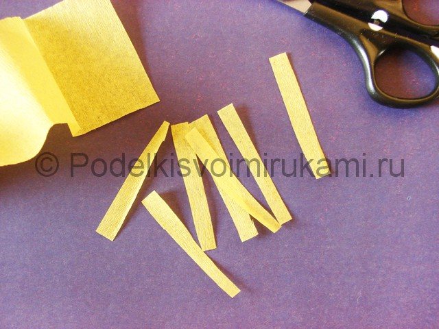 Изготовление фиалки из бумаги - фото 3.