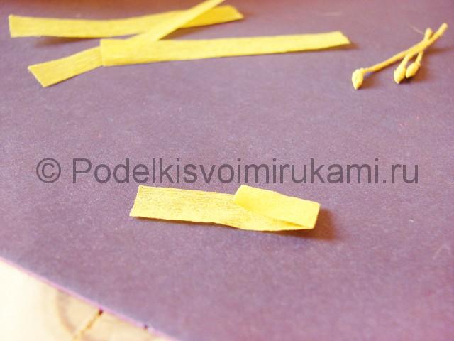 Изготовление фиалки из бумаги - фото 4.