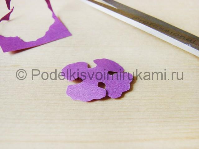 Изготовление фиалки из бумаги - фото 8.