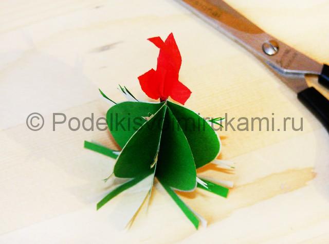 Изготовление кактуса из бумаги - фото 21.