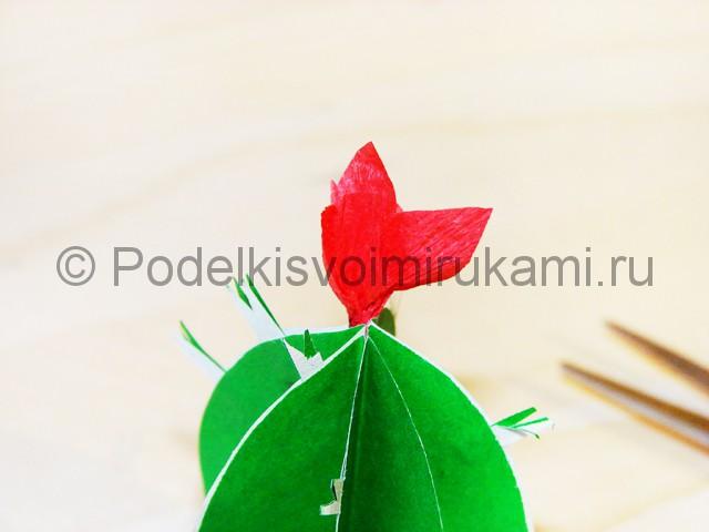 Изготовление кактуса из бумаги - фото 22.