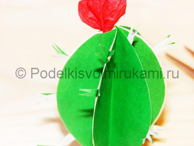 Изготовление кактуса из бумаги - фото 23.