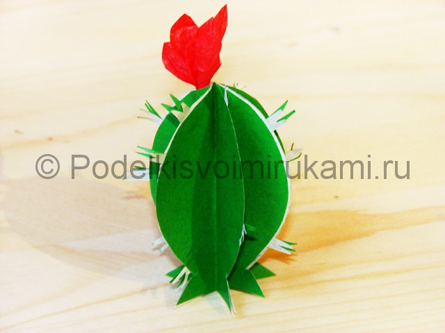 Изготовление кактуса из бумаги - фото 24.