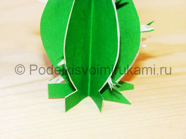 Изготовление кактуса из бумаги - фото 25.