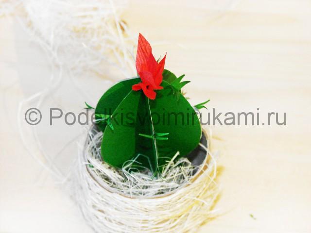 Изготовление кактуса из бумаги - фото 27.