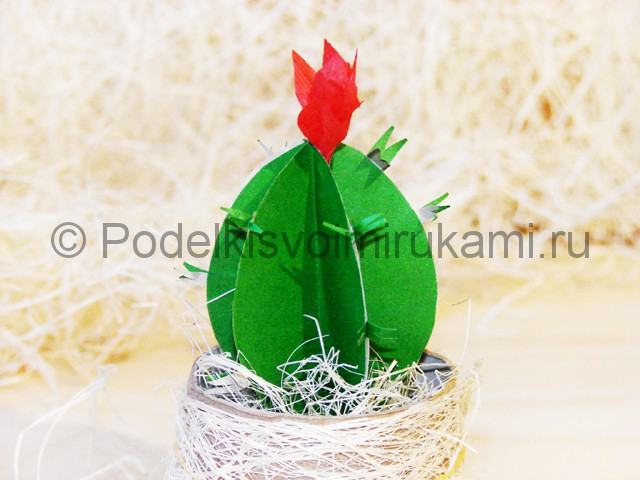 Изготовление кактуса из бумаги - фото 28.