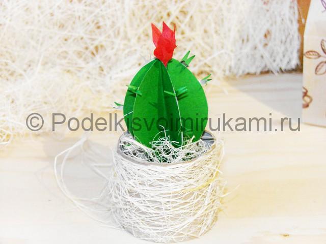 Изготовление кактуса из бумаги - фото 29.