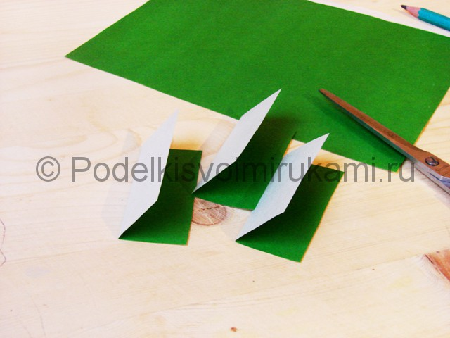 Изготовление кактуса из бумаги - фото 3.