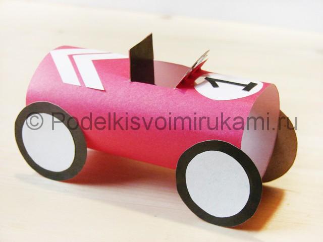 Изготовление машины из бумаги - фото 24.