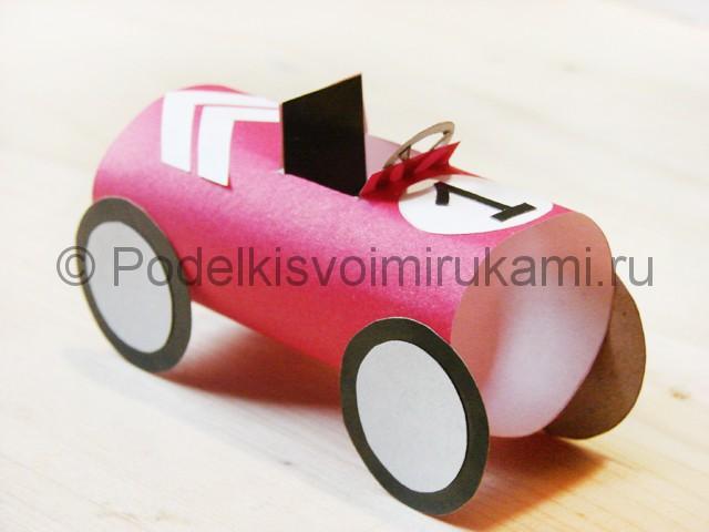 Изготовление машины из бумаги - фото 25.