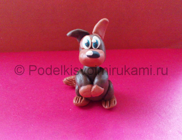 Лепка щенка из пластилина - фото 14.